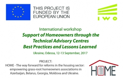 International workshop - Support of Homeowners through the Technical Advisory Centres