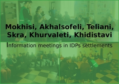 Information meetings in IDPs settlements
