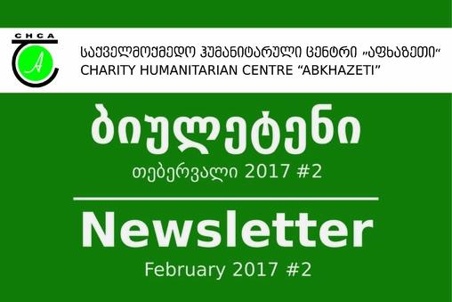 Newsletter #2 - February 2017
