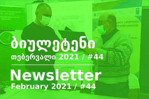 საინფორმაციო ბიულეტენი - თებერვალი 2021